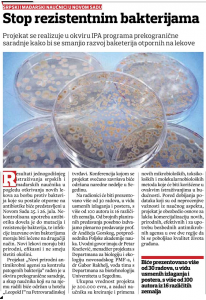 24.07.2014., НС репортер: Стоп резистентним бактеријама