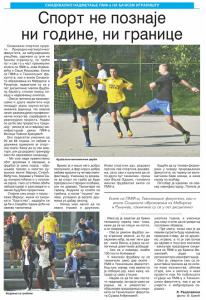 25.10.2015., Дневник: Спорт не познаје ни године, ни границе