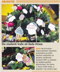 28.12.2015., 24 h: Шта студенти траже од Деда Мраза